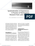 Systematization of Experiences a Practic