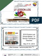 Daily Lesson Log 2019 2020