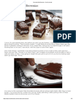 Recette Chocolate Mint Brownies - David Lebovitz