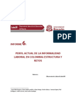 Reporte Labour Informalidad Mayo 2018 Perfil Actual de La Informalidad Laboral en Colombia Estructura y Retos