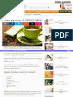 Http Enforma Salud180 Com Nutricion y Ejercicio 7 Danos Por Beber Te Verde en Exceso