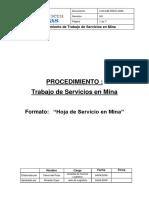 LOG-MB-PROC-0006 Procedimiento de Trabajo Servicios en Mina