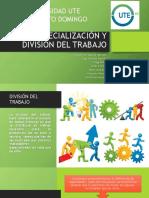 Especialización y División Del Trabajo