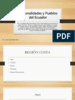 Nacionalidades y Etnias Del Ecuador