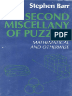 Second Miscellany of Puzzles Mathematical and Otherwis
