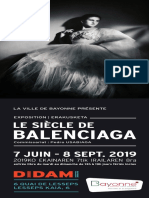 Programme exposition Balenciaga