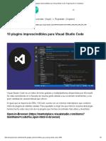 10 plugins imprescindibles para Visual Studio Code. Programación en Castellano_.pdf