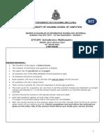 BIT - Past paper - 2014 English