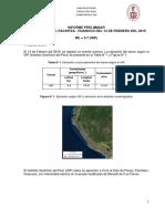 Informe Del Sismo de Panao, Pachitea - Huanuco