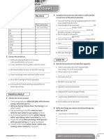 Achievers B1 Grammar Worksheet Consolidation Unit 1