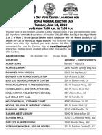 June 11 Municipal Elections Vote Centers