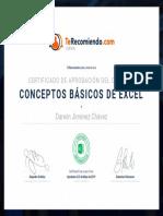 Certificado Curso de conceptos básicos de Excel (Darwin Jiménez Chávez) (1)