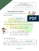 Ficha Informativa - Leitura de Números Por Classes e Por Ordens