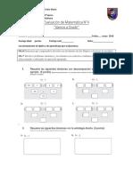 Evaluación de Matemática 4° - 4