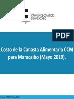 Estudio de la Cámara de Comercio de Maracaibo para mayo 2019