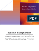 Nurse Practioner Syllabus Regulations
