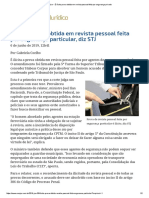 ConJur - É Ilícita Prova Obtida Em Revista Pessoal Feita Por Segurança Privado