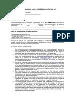 Anexo 3 - Carta de Presentacion de La Oferta