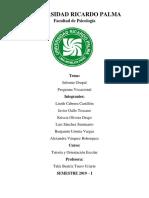 Informe y Programa