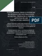 Teatro Menor Crises e Potencias Na Inter
