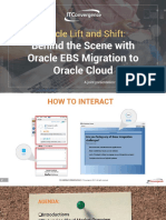 Lift and Shift - Behind the Scene With Oracle EBS Migration to Oracle Cloud