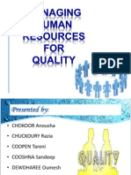 Managing Human Resources for Quality Presentation