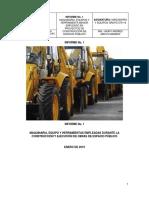 Informe Maquinaria y Equipo empleada en Obras de Espacio Público
