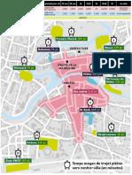 Le plan de stationnement du centre-ville de Mont-de-Marsan pendant la brocante