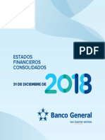 Banco General Estados Financieros 2018