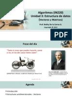 2019-1 Algoritmos - UNIDAD 3 - Estructuras de Datos AV