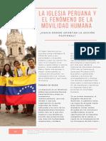 La Iglesia Peruana y El Fenómeno de La Movilidad Humana