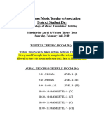 DSD Aural Written Theory Schedule and Student Parent Letter