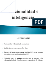 Racionalidad e Inteligencia