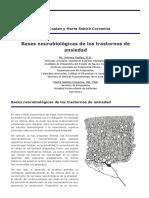 Bases Neurobiológicas de Los Trastornos de Ansiedad