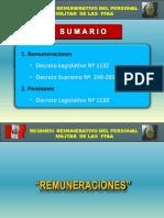 Exposicion Ejercito Sobre Regimen Remunerativo y Pensiones