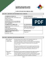 MSDS Batería Gel Valve Regulated Lead Acid Spanish