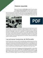 Historia Resumida Mcdonalds