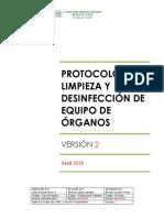 3.15 Protocolo de Limpieza y Desinfeccion Equipo de Organos-th