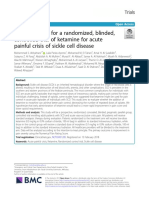 Study protocol for a randomized, blinded, controlled trial of ketamine for acute painful crisis of sickle cell disease.