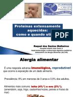 Raquel Dos Santos Malheiros-Alergia Alimentar VII Jornada Pneumo e Alergia 2018