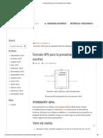 Formato APA Para La Presentación de Trabajos