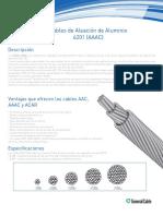 Ficha Tecnica Cables Aleacion Aluminio -Aaac