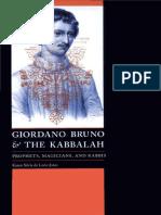 K. Silvia de León-Jones - Giordano Bruno and the Kabbalah