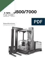 Carretilla Trilateral Tsp6500 7000 Especificaciones Es