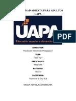 Tarea 3 y 4 - Prueba Psicopedagogica I - Alfa Duarte