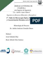 Reporte Mineralogia 3er Parcial Jesús, René