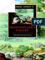 The Cambridge Companion to Shakespeares Poetry
