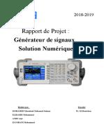 Rapport Générateur de Signaux Version 4