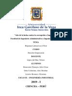 Derecho Empresarial - Regimenes Laborales Del Perú
