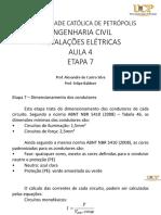 Instalacoes Eletricas Eng Civil Aula 4 - Etapa 7